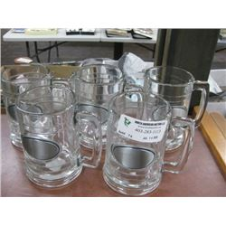 SET OF 5 BEER MUGS
