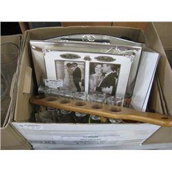 BOX OF ASSORTED DECOR