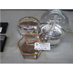 JEWELRY BOXES AND WATER GLOBE