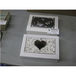 SET O 2 JEWELRY BOXES