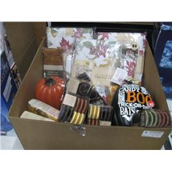 BOX OF ASSORTED THANKSGIVING DECOR