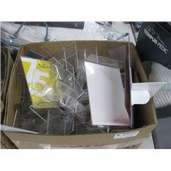 BOX OF PLASTIC SIGNS
