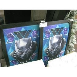 SET OF 2 BLACK PANTHER PICTURES