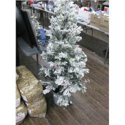 LIGHT UP CHRISTMAS TREE WITH FAKE SNOW