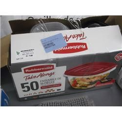 RUBBERMAID TAKEALONG 50-PC CONTAINER