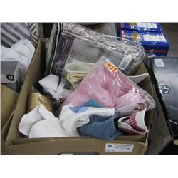 BOX OF ASSORTED LINENS