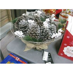 BEE AND WILLOW PRE-LIT PINECONE CENTERPIECE