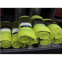 SET OF 8 LIME GREEN BATH TOWELS