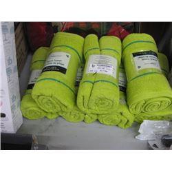 SET OF 7 BATH TOWELS GREEN
