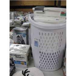 LAUNDRY BASKET AND GARBAGE BIN