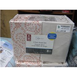 MAINSTAYS 2 PACK SHEET SET DOUBLE