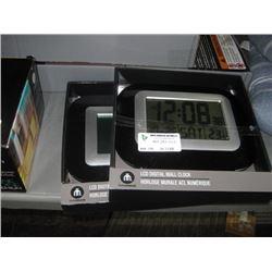 SET OF 2 LCD DIGITAL WALL CLOCK