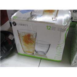 LIBBEY 12 PIECE SET OF GLASSWARE