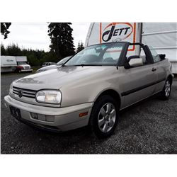 "A2 --  1998 VW CABRIO CONVERTIBLE , Brown , 256108  KM's ""NO RESERVE"""