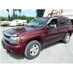 I3 --  2005 CHEVROLET TRAILBLAZER LS , Red , 253452  KM's