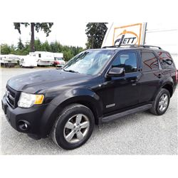 I4 --  2008 FORD ESCAPE LTD , Black , 247618  KM's