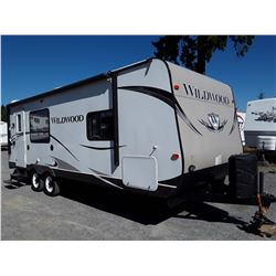 """0E -- 2014 WILDWOOD BY FOREST RIVER TRAVEL TRAILER 25'  """"NO RESERVE"""""""