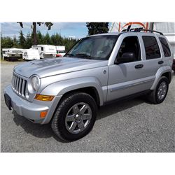 G5 --  2007 JEEP LIBERTY SPORT TRAIL RATED , Silver , 223494  KM's