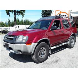 I1 --  2003 NISSAN X-TERRA XE , Red , 278961  KM's