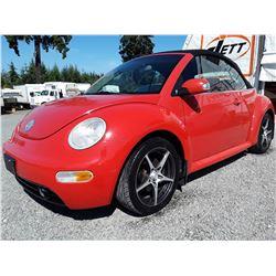 B2 --  2003 VW BEETLE GLS CONVERTIBLE , Orange , 170184  KM's