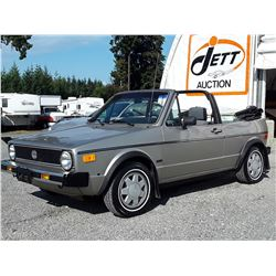 B1 --  1986 VW CABRIOLET CONVERTIBLE , Grey , 222755  KM's