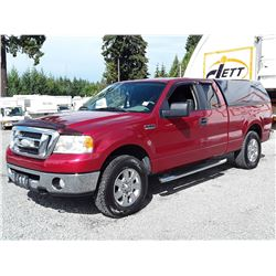 H4 --  2007 FORD F150 XLT EXT CAB 4X4 , Red , 191778  KM's