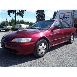 A9 --  2002 HONDA ACCORD EX  , Red , 270280  KM's