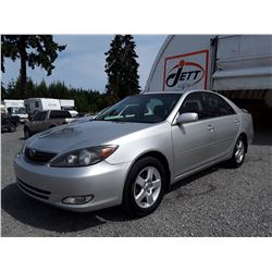 """A2 --  2003 TOYOTA CAMRY LE  , Silver , 332038  KM's """"NO RESERVE"""""""