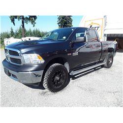 G1 --  2013 DODGE RAM 1500 CREW CAB 4X4 , Black , 204999  KM's