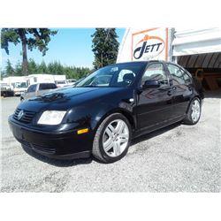 B1 --  2002 VW JETTA GLS  , Black , 166226  KM's