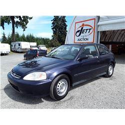 A11 --  1999 HONDA CIVIC CX  , Blue , 278612  KM's