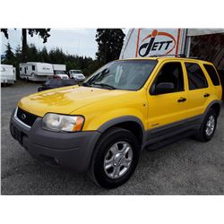 J2 --  2001 FORD ESCAPE XLT , Yellow , 209872  KM's