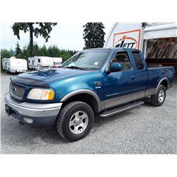 G5 --  2001 FORD F150 4X4 , Blue , 348852  KM's