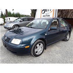 A4 --  2002 VW JETTA GLS TDI  , Green , 279164  KM's