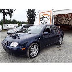E5 --  2003 VW JETTA GLS  , Blue , 135067  KM's