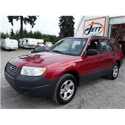 D2 --  2007 SUBARU FORESTER 2.5X , Red , 132262  KM's