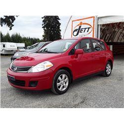 E2 --  2012 NISSAN VERSA S  , Red , 331335  KM's