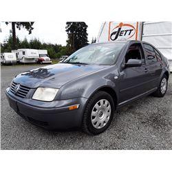 J1 --  2003 VW JETTA GLS , Grey , 266127  KM's