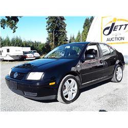 I1 --  2002 VW JETTA GLS , Black , 157,698 MILES