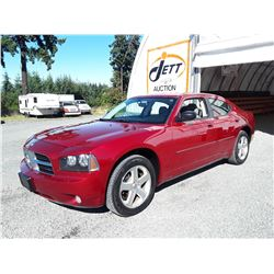 C4 --  2009 DODGE CHARGER SXT , Red , 120588  KM's