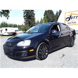 H4 --  2010 VW JETTA 2.OT WOLFSBURG EDITION , Black , 149978  KM's