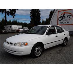 J2 --  1998 TOYOTA COROLLA VE , White , 238802  KM's