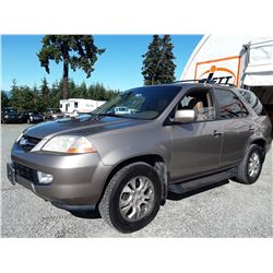 A12A --  2003 ACURA MDX TOURING , Brown , 312236  KM's