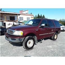 A11 --  1997 FORD EXPEDITION XLT , Red , 191866 MILES  KM's