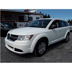 H2 --  2017 DODGE JOURNEY SE  , White , 18007  KM's