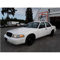 B6 --  2002 FORD CROWN VICTORIA POLICE INTERCEPTOR  , White , 227314  KM's