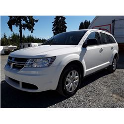 H3 --  2016 DODGE JOURNEY SE  , White , 65777  KM's
