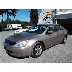 J2 --  2003 HONDA ACCORD EX , Brown , 176901  KM's