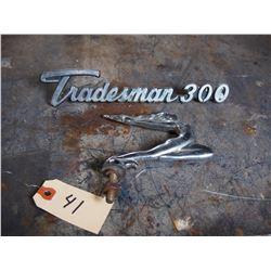 1920s-1930s Hood Ornament Tradesman 300 Embrem