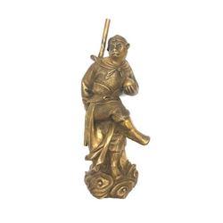 Bronze Monkey With Stick Statue
